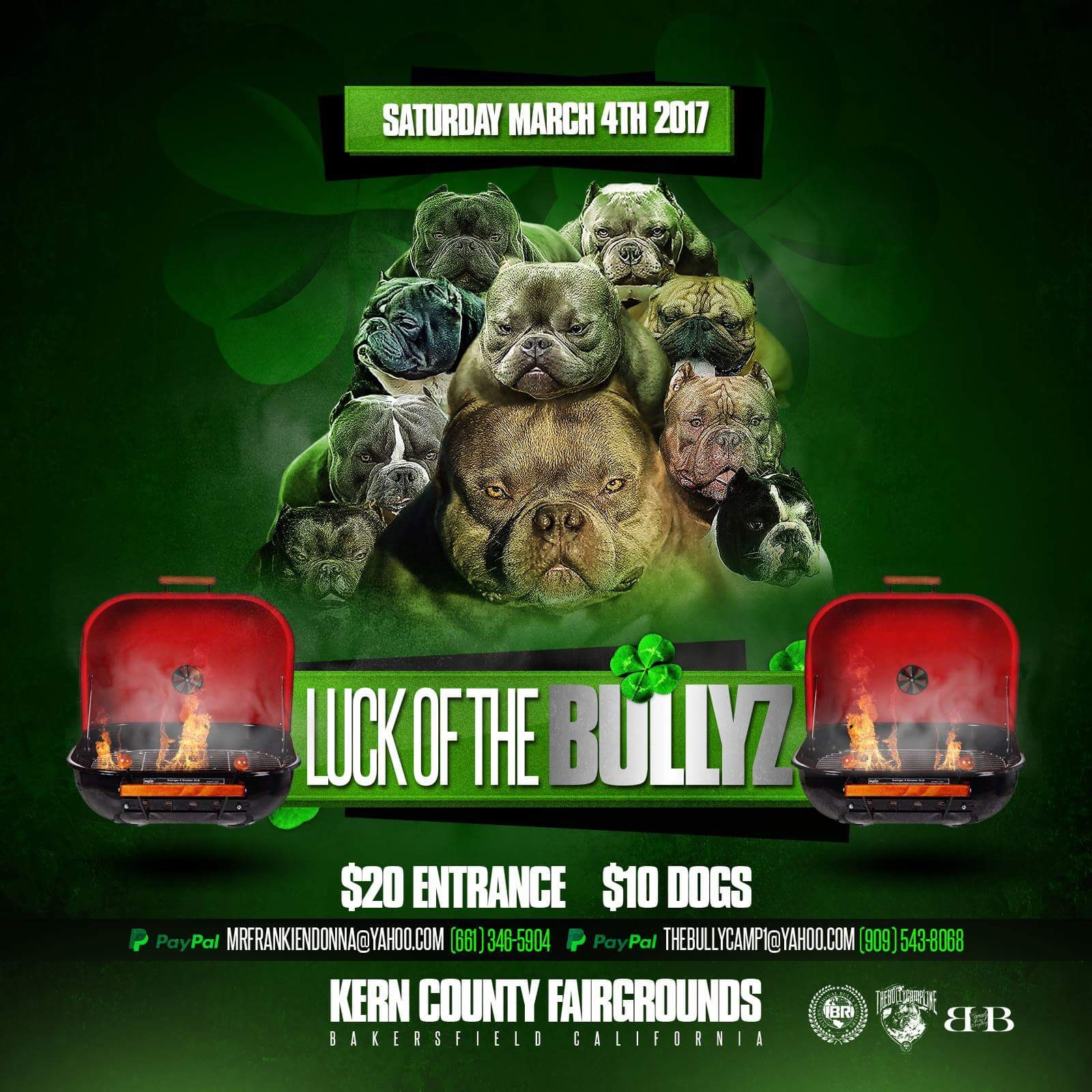 luck of the bullyz show flyer